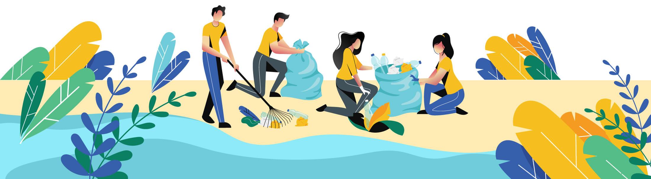 یادگیری از راه خدمت؛ پاکسازی نهر در کلاس زیستشناسی